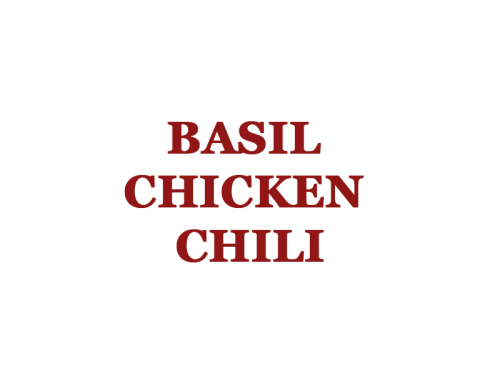 Basil Chicken Chili