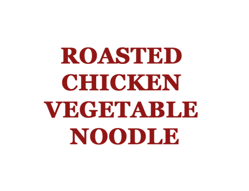 Roasted Chicken Vegetable Noodle