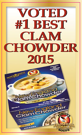 Voted #1 Best Clam Chowder 2015